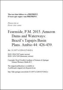 Amazon Dams and Waterways – Brazils Tapajós Basin Plans