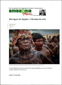 Barragens no Tapajós - Resumo da Série