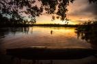 Pôr-do-sol no rio Juruena. Foto: Thiago Foresti.