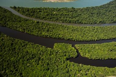 Vista aérea da Bacia do rio Juruena. Foto: Thiago Foresti.
