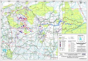Localização dos AHEs e PCHs Selecionados para a AAI da Bacia do Juruena.