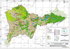 Vegetação Nativa nas Áreas de Buffer para os Empreendimentos da bacia no Cenário Futuro.