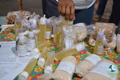 Riqueza dos produtos da agricultura familiar na bacia do Juruena. Foto de Dafne Spolti.