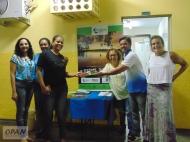Distribuição de materiais da Rede Juruena Vivo e da OPAN. Foto: Catiúscia Custódio/OPAN