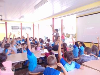 Discussão sobre os usos e a importância da água. Foto: Catiúscia Custódio/OPAN