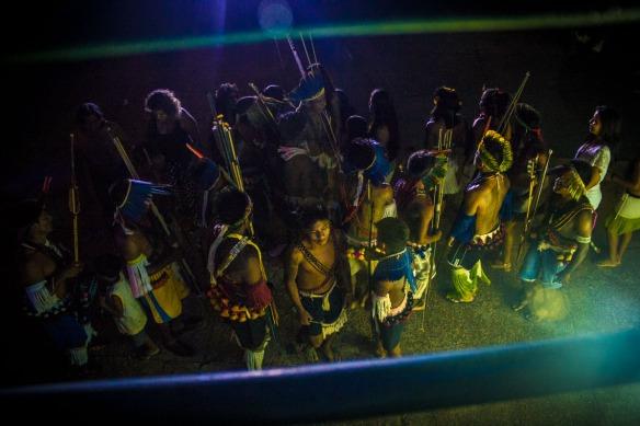Indígenas Kayabi se apresentam na abertura do Festival. Foto: João Miranda