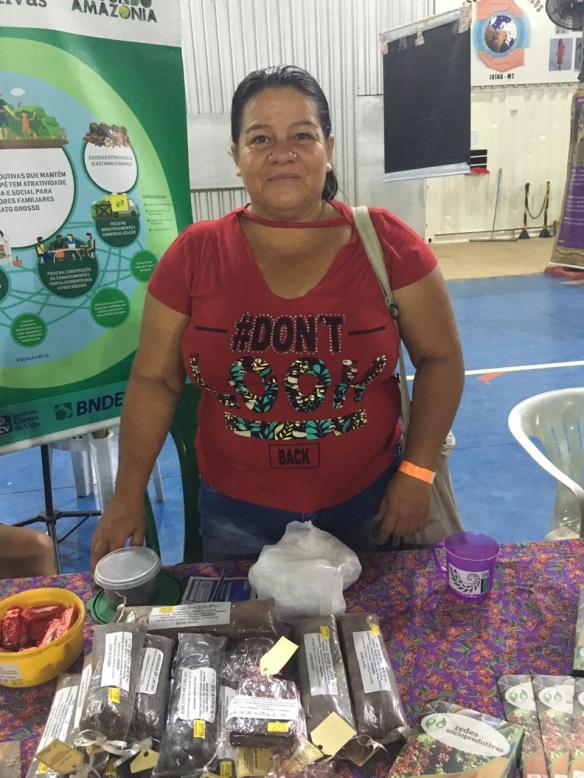 Foto 9_ Nilsa Serafim Oliveira Barros, da associação Mulheres Esperança em Cotriguaçu. Foto_ Gesiel Souza de Holanda_